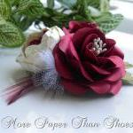 Hand Sculpted Paper Flowers - Red &..
